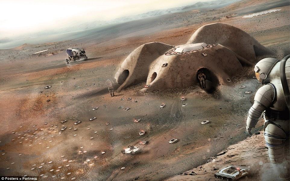 Gambar 3D Penjelajahan ke Planet MARS