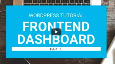 WordPress Tutorial : Membuat FrontEnd Dashboard menggunakan Plugin