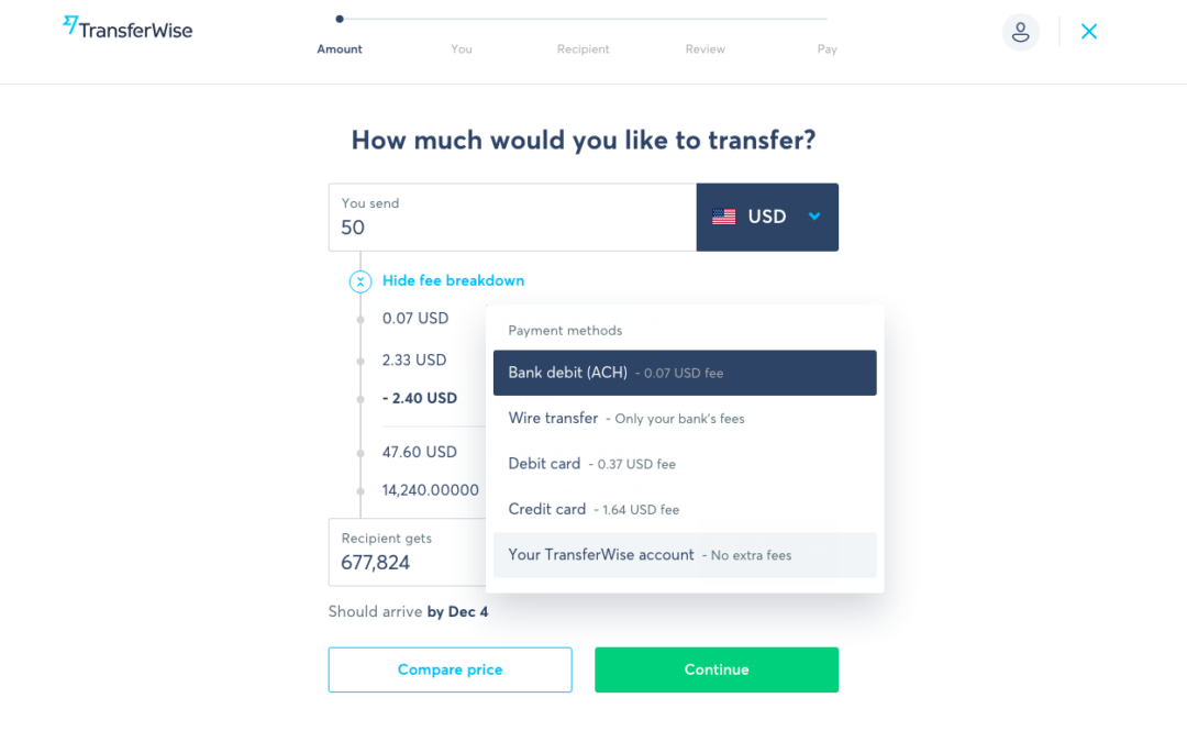 Testing Withdrawl dari Transferwise ke Bank Lokal