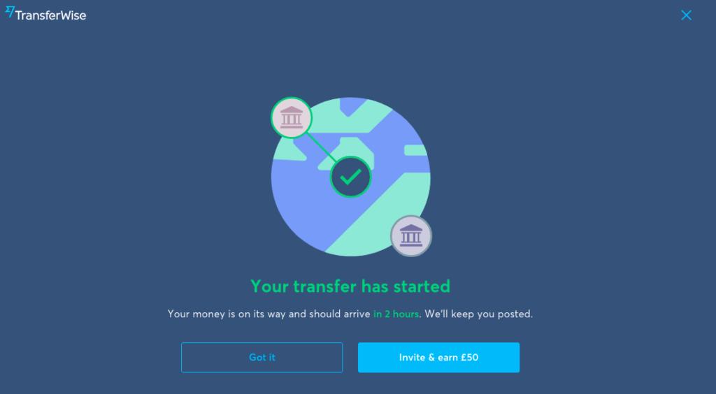 Success Transfer dari Transferwise ke Bank Lokal