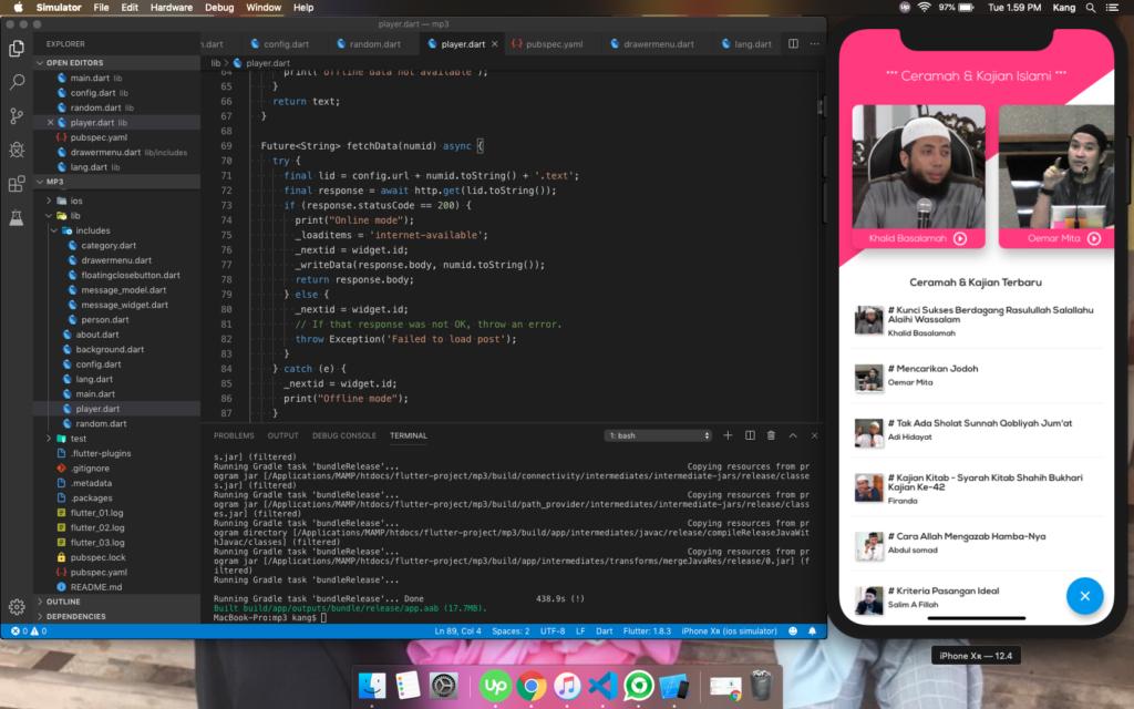 visual studio code flutter