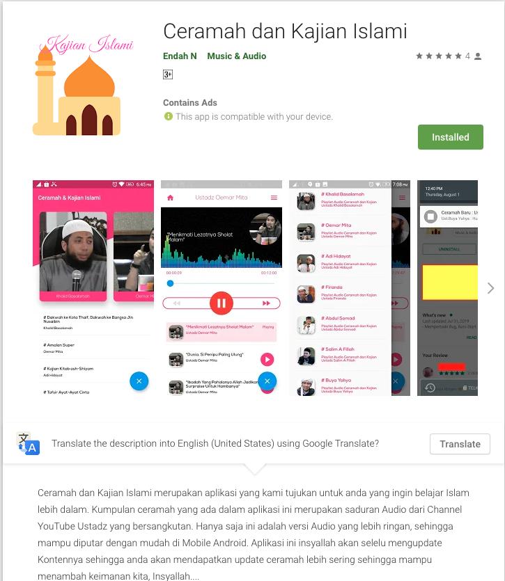 ceramah kajian islami android